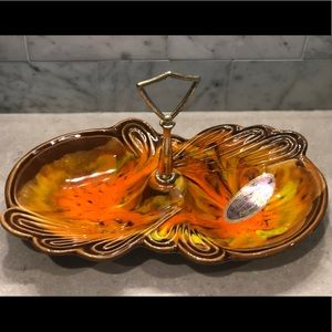 California Pottery Accents - MCM California Pottery Relish/Tidbit/Trinket Dish